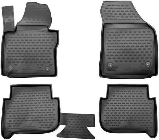 Walser Passform-Fußmatten »XTR« (4 Stück), VW Touran Großr.lim., für VW Touran I, II, 5 Sitze BJ 2003 - 2010, 2010 - 2015