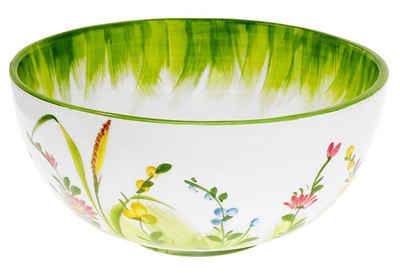 Lashuma Servierschüssel »Blumenwiese«, Keramik, Große Keramikschüssel, Obstschale Ø 22 cm