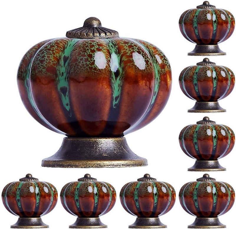 Favson Möbelgriff »Möbelknopf 8 Stück Möbelknöpfe Vintage Keramik Schrankknopf Porzellan Schubladenknöpfe Grün«