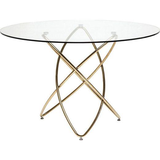 KARE Esstisch »Tisch Molekular Gold 120cm«