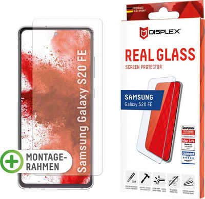 Displex »DISPLEX Real Glass Panzerglas für Samsung Galaxy S20 FE/S20 FE 5G (6,5), 10H Tempered Glass, mit Montagerahmen, 2D« für Samsung Galaxy S20 FE, Displayschutzglas