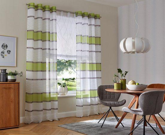 Gardine »Jay«, my home, Ösen (2 Stück), Vorhang, Fertiggardine, transparent