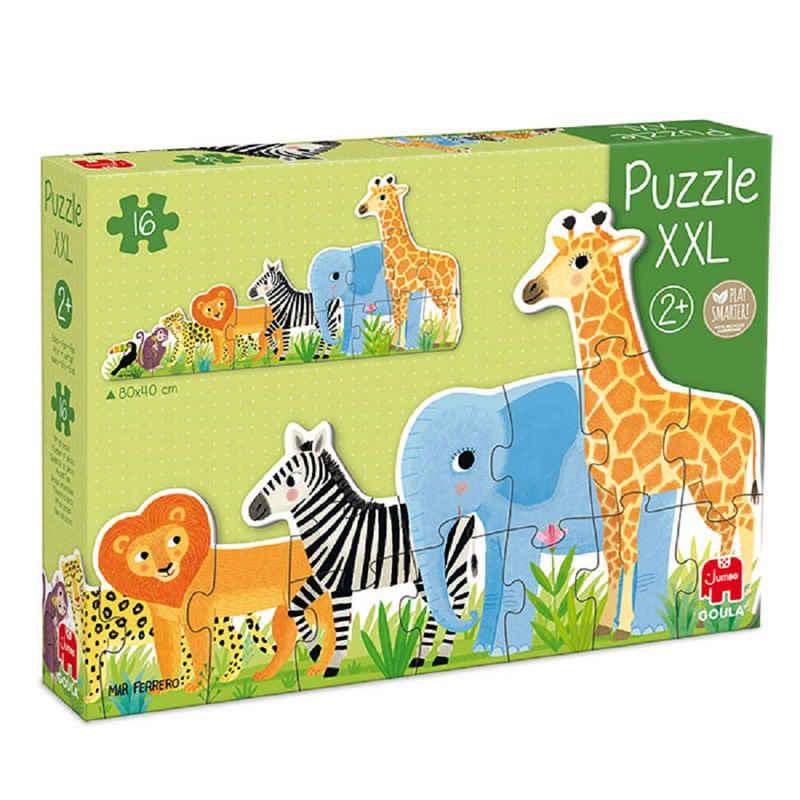 Goula Puzzle »53426 XXL Puzzle Dschungel 16 Teile Holzpuzzle«, 16 Puzzleteile