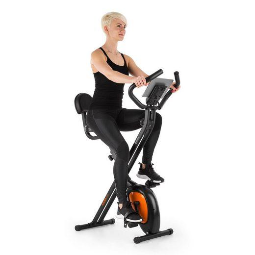 Capital Sports Heimtrainer »Azura Air Heimtrainer X-Bike SilentBelt Magnetwiderstand faltbar« (Tablet-Halterung ; pullsmesser;Trainingscomputer mit LCD-Display)