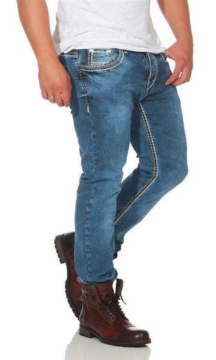 Amica Jeans Stretch-Jeans »Herren Jeans Denim Hose Doppelnaht Stretch;« (1-tlg)