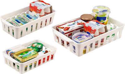 Ruco Aufbewahrungskorb (Set, 6 Stück), für den Kühlschrank, Kunststoff