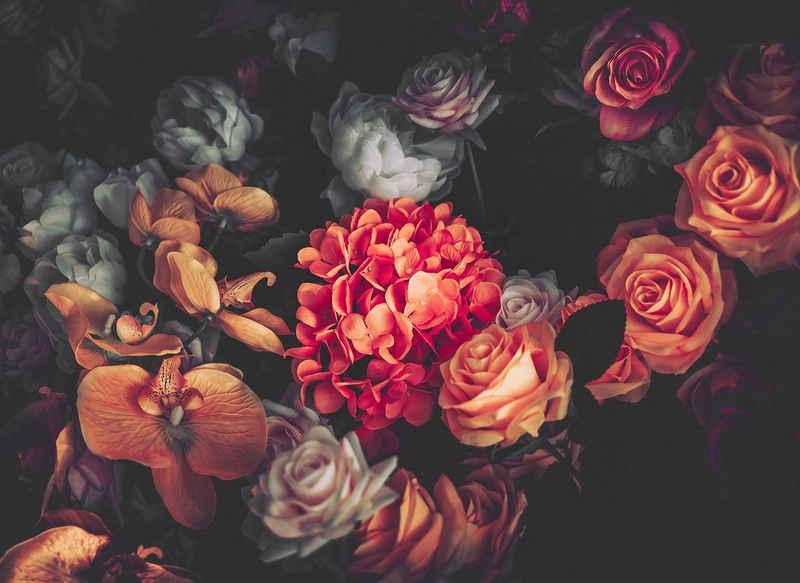 living walls Fototapete »Designwalls Romantic Flowers 1«, glatt, (5 St)
