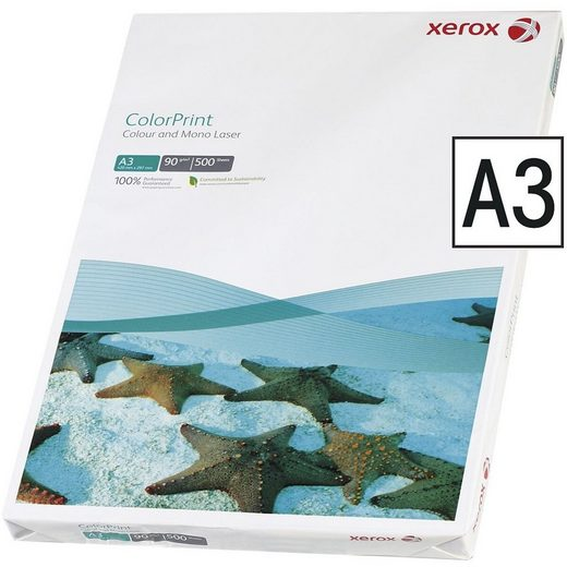 Xerox Farblaser-Druckerpapier »Color Print«, Format DIN A3, 90 g/m²