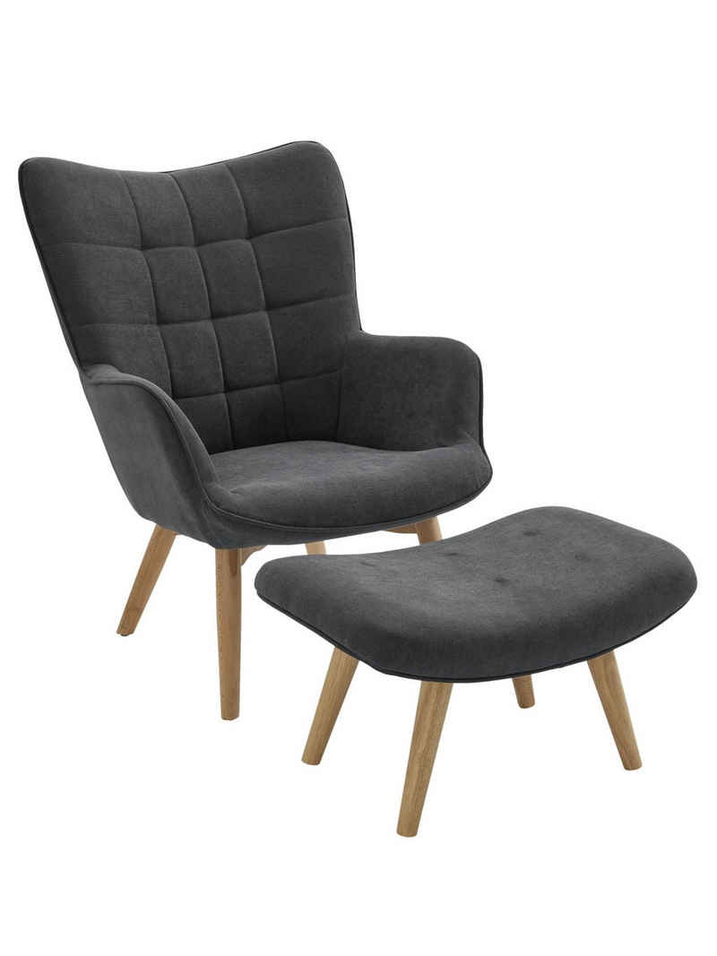 Sessel+Hocker dekorative Ziersteppung und Kederheftung