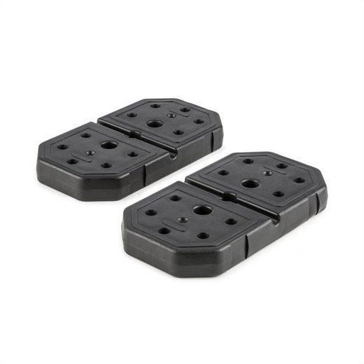 KLARFIT Gewichteplatten »2 x 7 kg Gewichtsplatten, stoßfester Kunststoff, schwarz«