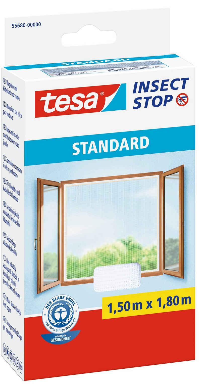 tesa Insektenschutz-Fenster »Insect Stop Fliegengitter STANDARD für Fenster«, (1-St), Insektenschutz, Schnelle Montage, Waschbar bis 30°C
