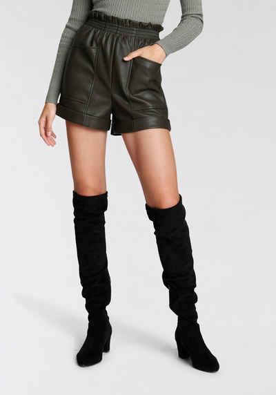 HaILY'S Shorts aus Lederimitat