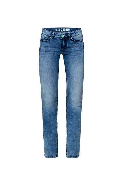 Hosen - SOCCX Regular fit Jeans mit Used Waschung ›  - Onlineshop OTTO