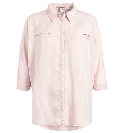khujo Hemdbluse »khujo Myma Hemd-Bluse coole Damen Sommer-Bluse in Oversize-Passform Sommer-Bluse Rosa«