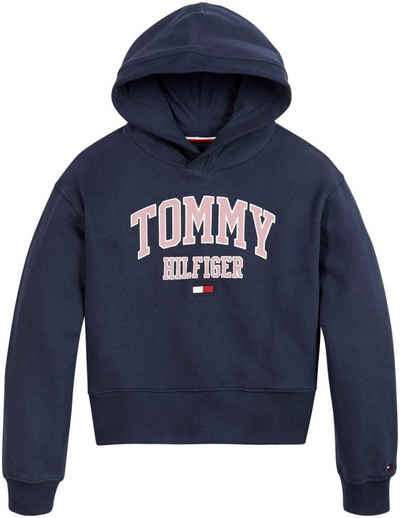 Tommy Hilfiger Kapuzensweatshirt »ESSENTIAL VARSITY HOODIE« in kurzer Form