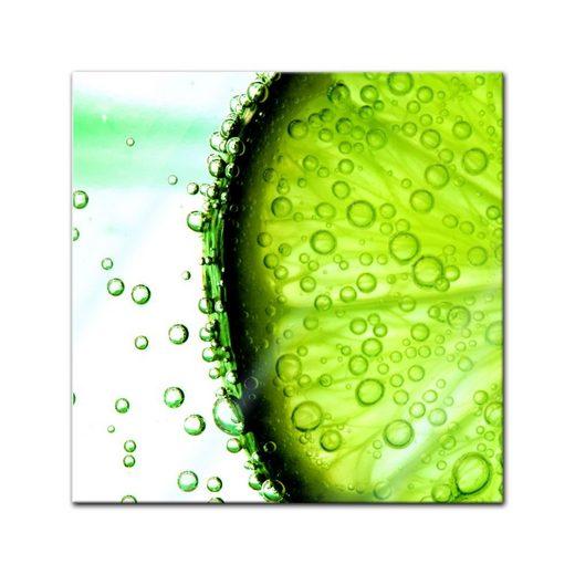 Bilderdepot24 Glasbild, Glasbild - Limonenscheibe - Wasser