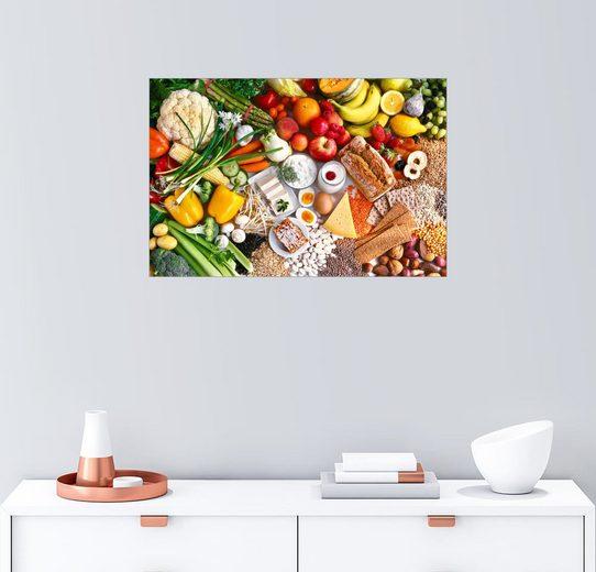 Posterlounge Wandbild, Premium-Poster Vegetarische Lebensmittel