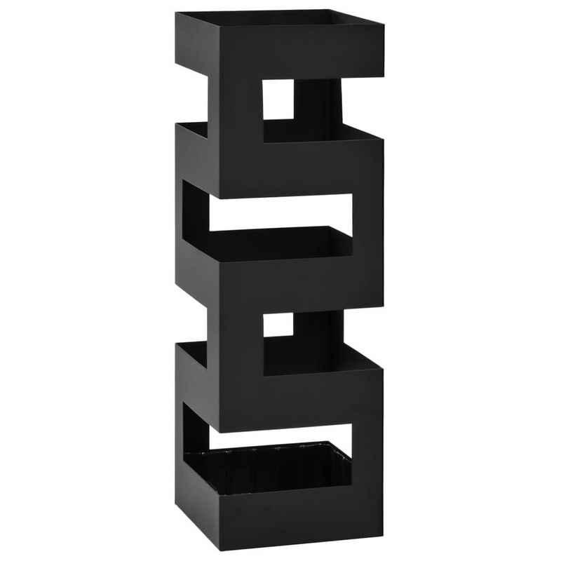 vidaXL Schirmständer »vidaXL Schirmständer Schirmhalter Gehstock Stahl quadratisch weiß 48,5 cm /vidaXL Regenschirmständer Tetris Stahl Schwarz«