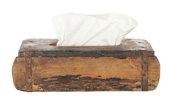 Markenwarenshop-Style Holzkiste »Ziegelform Holz Tissuebox Braun ca.31x15cm Kosmetiktuch-Box Taschentuch Braun ca.31x15cm Kosmetiktuch-Box Taschentuch«, alt Holz