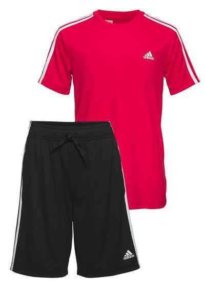 adidas Performance Trainingsanzug »3-STRIPES SET DESIGNED2MOVE AEROREADY PRIMEGREEN JUNIOR REGULAR MENS« (Set)