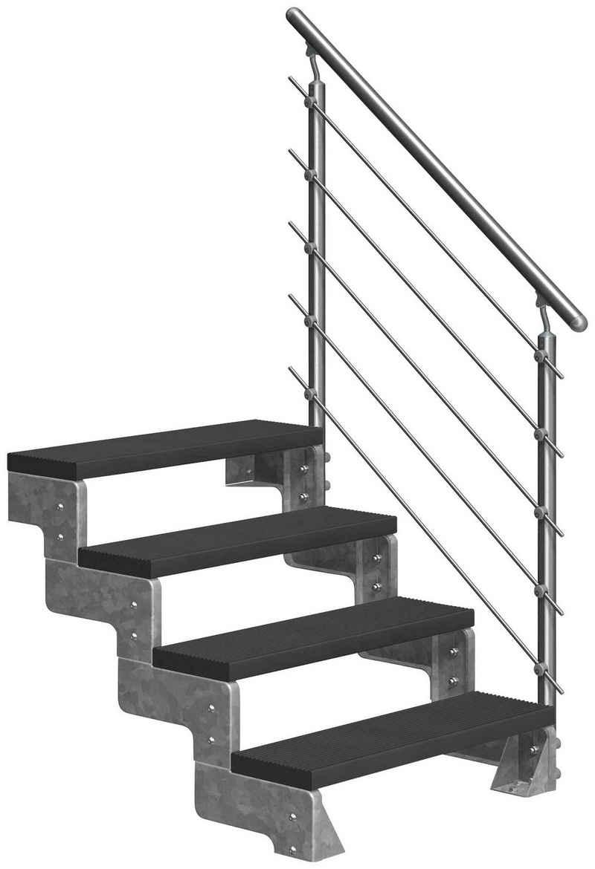 Dolle Außentreppe »Gardentop«, für Geschosshöhen bis 88 cm, Stufen offen, TRIMAX®-Stufen 100 cm