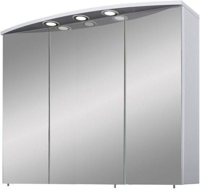Spiegel - Schildmeyer Spiegelschrank »Verona« Breite 100 cm, 3 türig, 3 LED Einbaustrahler, Schalter Steckdosenbox, Glaseinlegeböden, Made in Germany  - Onlineshop OTTO