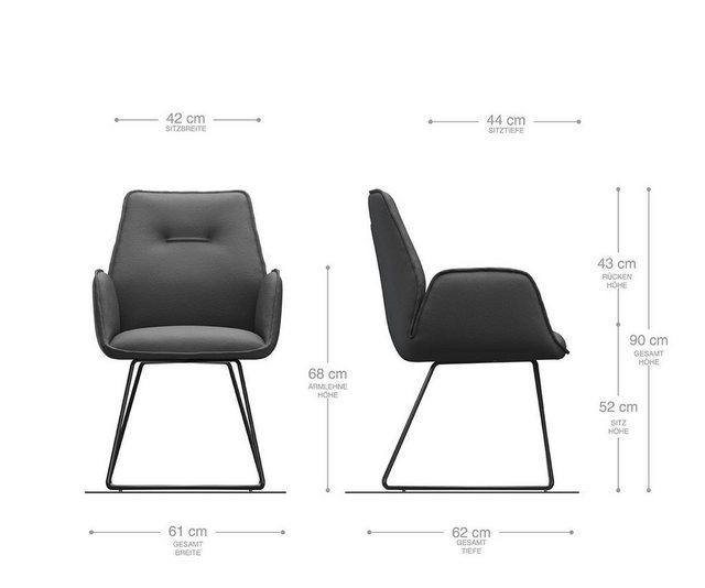 Stühle und Bänke - DELIFE Esszimmerstuhl Zoa Flex Polsterstuhl  - Onlineshop OTTO