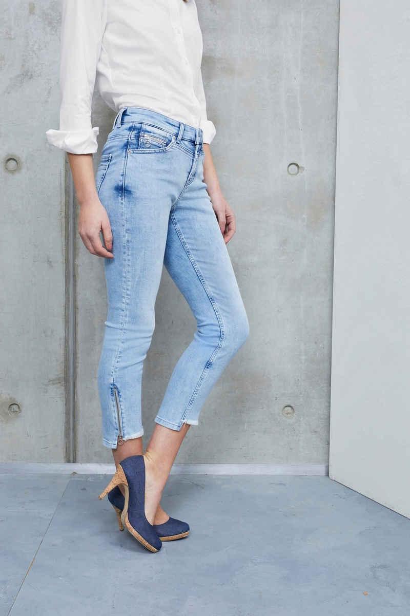 MAC Ankle-Jeans »Rich-Slim Chic« Hinten etwas länger als vorne geschnitten