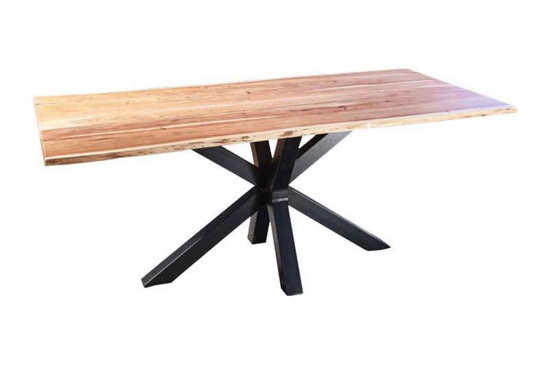 SAM® Baumkantentisch »Spider«, Akazie Massivholz naturfarben natürliche Baumkante