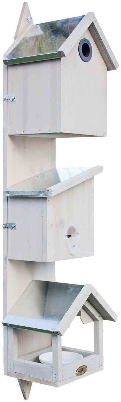 Habau Vogelhaus »Triple«, BxTxH: 21x18x76 cm