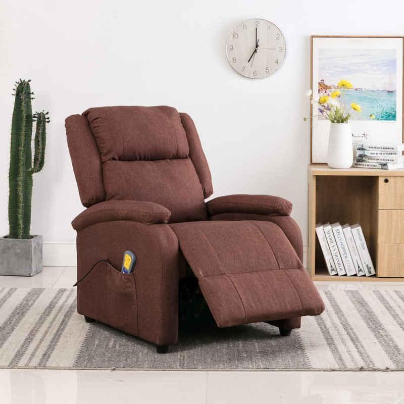Forsman Shop Massagesessel »Massagesessel Braun Stoff71 x 90,5 x 96 cm (B x T x H) 5 einstellbare Modi«