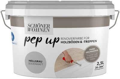 SCHÖNER WOHNEN-Kollektion Treppen- und Parkettlack »pep up - hellgrau«, seidenmatt, für Holzböden und -treppen, 2,5 l