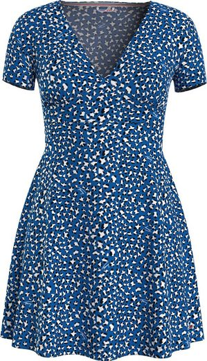 Tommy Jeans Druckkleid »TJW FIT FLARE LEO PRINT DRESS« mit allover modischem Leo-Print
