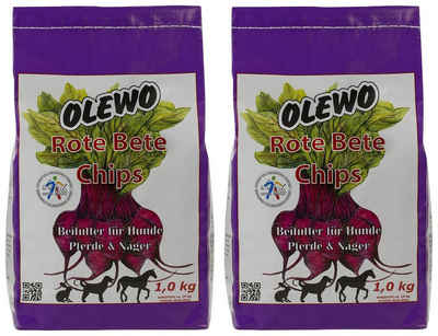 Olewo Hundesnack »Rote Bete Chips«, 2 Beutel á 1 kg