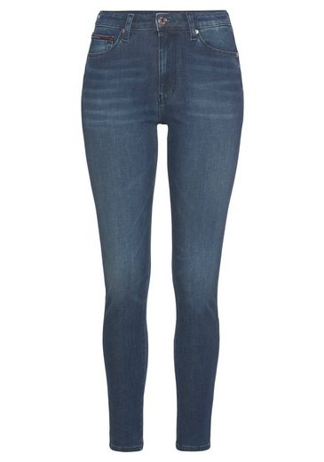 TOMMY JEANS Skinny-fit-Jeans »SYLVIA HR SUPER SKINNY DYAMD« mit Tommy Jeans Logo-Badge & Streifen