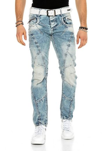 Cipo & Baxx Bequeme Jeans »Rugged« im Antique Look
