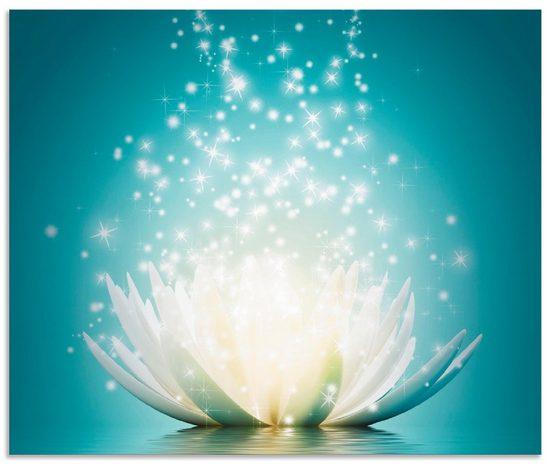Artland Küchenrückwand »Magie der Lotus-Blume«, (1-tlg)
