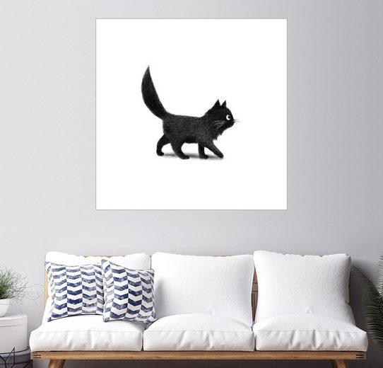 Posterlounge Wandbild, Premium-Poster Kleine schwarze Katze