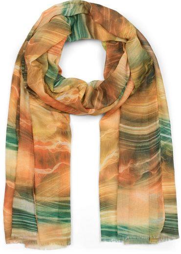 styleBREAKER Schal »Schal mit maritimem Wellen Muster« Schal mit maritimem Wellen Muster