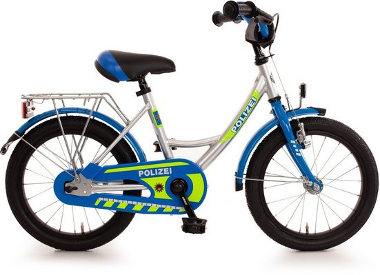 "Bachtenkirch Kinderfahrrad »Kinderfahrrad ""Polizei"", blau/silber/neon-gelb«, 1 Gang"