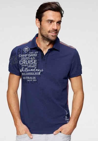 CAMP DAVID Poloshirt mit Logoprint