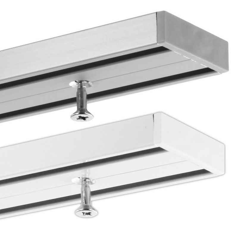 Gardinenschiene »2-läufige Objektschiene, ab 2 m mittig geteilt, vorgebohrt«, Gardineum, 2-läufig