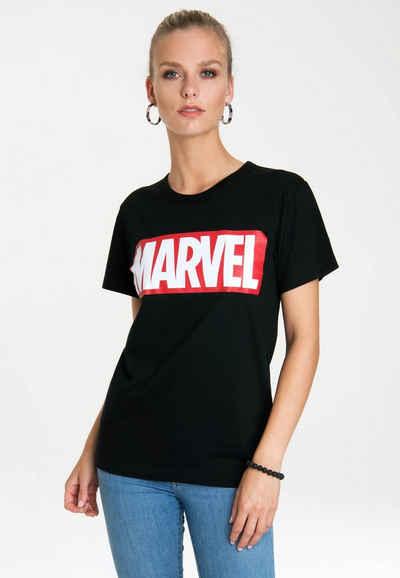 LOGOSHIRT Rundhalsshirt »Marvel Comics« mit lizenziertem Originaldesign