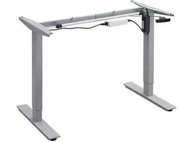 Balderia Tischgestell »STR07«, Balderia Höhenverstellbare Tischbeine - Elektrisch verstellbarer Schreibtisch - Tischgestell für Heim & Büro - Höhe 65,5-115,5 cm - Grau