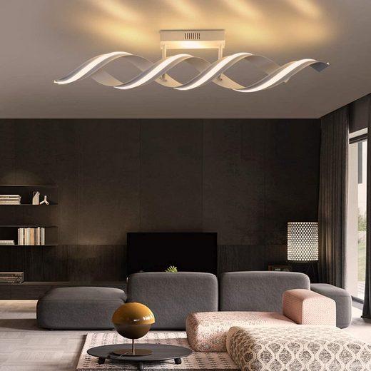 ZMH LED Deckenleuchte »Deckenlampe Modern 29W 96cm 3000k Warmweiß Spirale Design aus Aluminium für Schlafzimmer Wohnzimmer«