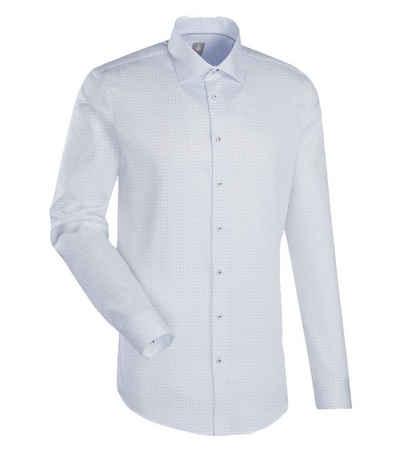 Jacques Britt Langarmhemd »JACQUES BRITT Langarm-Hemd elegantes Herren Baumwoll-Hemd mit Steh-Kragen Freizeit-Hemd Weiß«