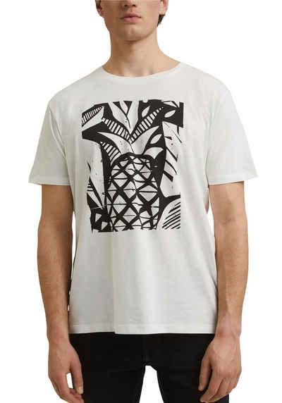 edc by Esprit T-Shirt kleines Markenlabel an der Seite