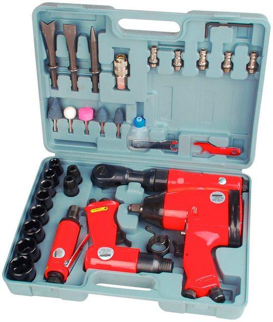 BRUEDER MANNESMANN WERKZEUGE Druckluft-Set , 33-tlg., inkl. Koffer | Baumarkt > Werkzeug > Werkzeug-Sets | Rot | Brüder Mannesmann Werkzeuge