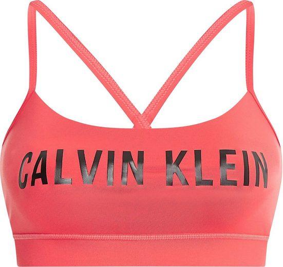 Calvin Klein Performance Bustier »LOW SUPPORT SPORTS BRA« mit Trägern für geringe Intensität im Rücken gekreuzt