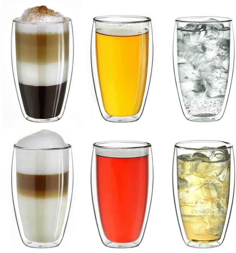 Creano Thermoglas, Borosilikatglas, hoch, Thermoeigenschaft, 250 ml, 6-teilig